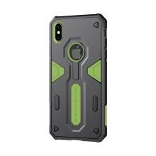 Kryt Nillkin pro Apple iPhone Xs Max - odolný - plast / guma - zelený / černý