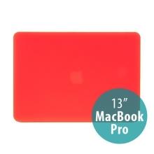 Tenký ochranný plastový obal pro Apple MacBook Pro 13 (model A1278) - matný - červený