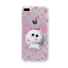 Kryt Tajný život mazlíčků pro Apple iPhone 7 Plus / 8 Plus - gumový - průhledný / králík Snížek