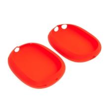 Kryty náušníků pro Apple AirPods Max - silikonové - červené