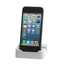 Dock (dokovací stanice) se stojánkem pro Apple iPhone 5 - bílý