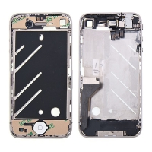 Osazený středový rámeček pro Apple iPhone 4 - bílý