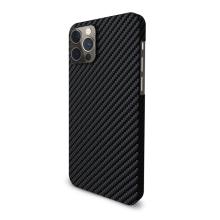 Kryt EPICO Carbon Case pro Apple iPhone 12 / 12 Pro - aramidová vlákna - karbonový - černý