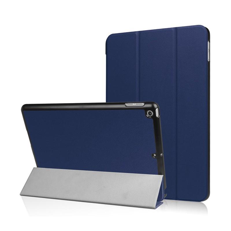 Pouzdro / kryt pro Apple iPad 9,7 (2017-2018) - funkce chytrého uspání + stojánek - tmavě modré