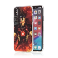 Kryt MARVEL pro Apple iPhone X / Xs - Iron Man - gumový
