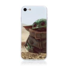 Kryt STAR WARS pro Apple iPhone 7 / 8 / SE (2020) - gumový - Mandalorian / Baby Yoda