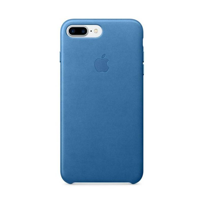 Originální kryt pro Apple iPhone 7 Plus / 8 Plus - kožený - jezerně modrý