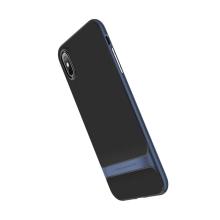 Kryt ROCK Royce pro Apple iPhone X / Xs - gumový / plastový - černý / modrý