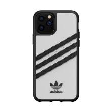 Kryt Adidas pro Apple iPhone 11 Pro - umělá kůže / guma - bílá / černá