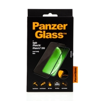 Tvrzené sklo (Tempered Glass) PANZERGLASS pro Apple iPhone Xr / 11 - Case Friendly - černé - 0,4mm