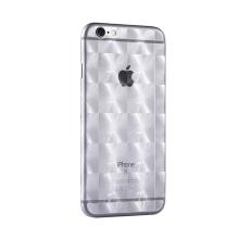 Samolepka celotělová pro Apple iPhone 6 / 6S - 3D motiv - čtverce - průhledná matná