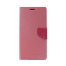 Pouzdro Mercury Fancy Diary pro Apple iPhone Xs Max - stojánek a prostor pro doklady - světle růžové