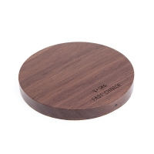 Bezdrátová nabíječka / nabíjecí podložka YOGEE - dřevěná - ořechová