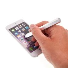 Dotykové pero / stylus - hexagon - kovové stříbrné