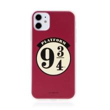 Kryt Harry Potter pro Apple iPhone 11 - gumový - nástupiště 9 a 3/4 - červený