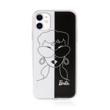 Kryt BARBIE pro Apple iPhone 11 - gumový - černý / bílý