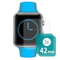 Tvrzené sklo (Tempered Glass) pro Apple Watch 42mm 1 / 2 / 3 - čiré - sada 2 ks