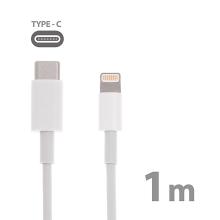 MFI Certifikovaný kabel USB-C s Lightning konektorem pro Apple - 1m bílý - kvalita A+