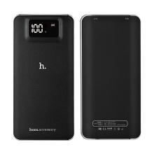 Externí baterie / power bank HOCO UPB05 10000mAh s 2x USB porty (1A, 2.1A) - černá