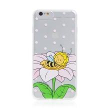 Kryt včelka Mája - pro Apple iPhone - 6 Plus / 6S Plus - gumový - průhledný - zasněná Mája