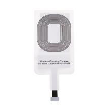 Podložka / přijímač pro bezdrátové nabíjení Qi pro Apple iPhone s Lightning konektorem - bílý