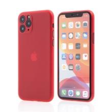 Kryt pro Apple iPhone 11 Pro Max  - s prvkem pro ochranu skla kamery - plastový - červený