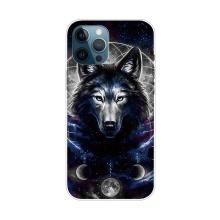 Kryt pro iPhone 12 Pro Max - gumový - mýtický vlk