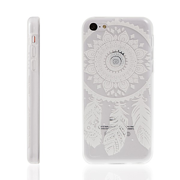 Kryt pro Apple iPhone 5C - plastový / průhledný - lapač snů