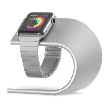 Stojánek pro Apple Watch 38 / 40 / 42 / 44mm - hliníkový - stříbrný