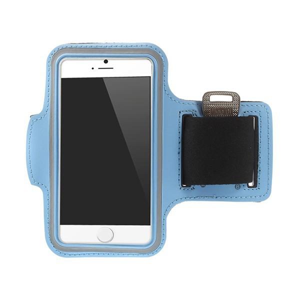 Sportovní pouzdro pro Apple iPhone 6 / 6S - světle modré s reflexním pruhem
