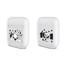 Pouzdro / obal DISNEY pro Apple Airpods - plastové - bílé - 101 dalmatinů
