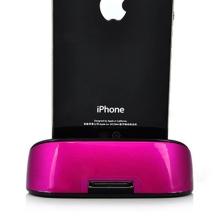 Přenosná dokovací stanice (Dock Station) pro Apple iPhone / iPod - růžová
