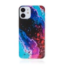 Kryt BABACO pro Apple iPhone 12 mini - gumový - abstraktní vlnky