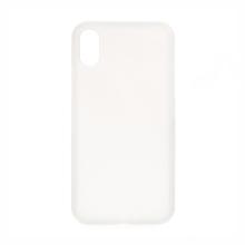 Kryt pro Apple iPhone X - protiskluzový - plastový / gumový - bílý