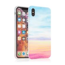 Kryt pro Apple iPhone Xs Max - gumový - červánky