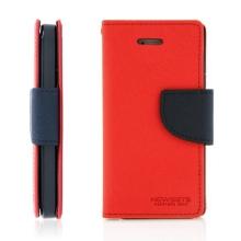 Ochranné pouzdro pro Apple iPhone 5 / 5S / SE Mercury se stojánkem a prostorem pro umístění platebních karet - červeno-modré