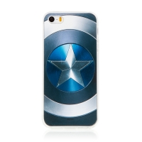 Kryt MARVEL pro Apple iPhone 5 / 5S / SE - Captain America - gumový