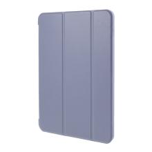 Pouzdro / kryt pro Apple iPad Air 4 (2020) - funkce chytrého uspání - umělá kůže - gumová záda - fialové