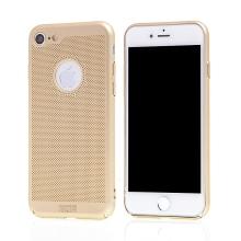 Kryt MOFi pro Apple iPhone 7 / 8 / SE (2020) - perforovaný / s otvory - plastový - zlatý