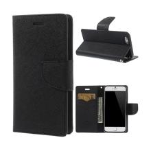Pouzdro Mercury pro Apple iPhone 6 / 6S - stojánek a prostor pro platební karty - černé