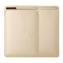 """Pouzdro / obal pro Apple iPad velikosti 9,7 """" / 10,2"""" / 10,5"""" - kapsa na Apple Pencil - umělá kůže - zlaté"""