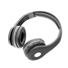 Sluchátka Bluetooth bezdrátová - mikrofon + ovládání - FM rádio - Micro SD slot - 3,5mm jack vstup - černá