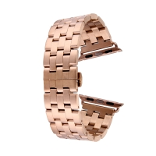 Řemínek pro Apple Watch 44mm Series 4 / 38mm 1 2 3 - ocelový + šroubováček - Rose Gold