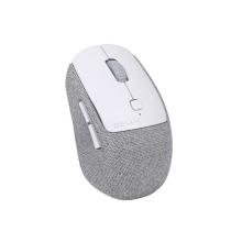 Myš optická bezdrátová DELUX - USB přijímač - 6 tlačítek - látková - šedá