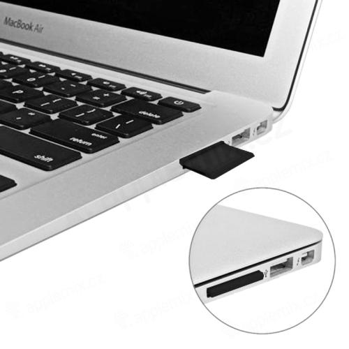 Přepojka / redukce Micro SD na SD kartu pro Apple MacBook Pro / Air - zkrácená / zapuštěná - černá