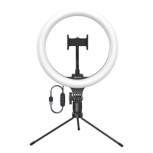 """10"""" kruhové LED světlo BASEUS (Ring light) - dálkové ovládání + stativ - na streamování - 360° otočné"""