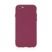 Kryt pro Apple iPhone 6 / 6S - příjemný na dotek - silikonový - tmavě červený