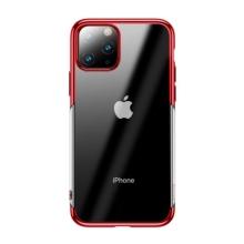 Kryt BASEUS Shining pro Apple iPhone 11 Pro Max - gumový - pokovený - průhledný / červený