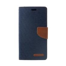 Pouzdro Mercury Goospery pro Apple iPhone Xr - stojánek a prostor pro platební karty - modro-hnědé