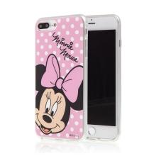 Kryt pro Apple iPhone 6 Plus / 6S Plus / 7 Plus / 8 Plus - Minnie - růžový - gumový